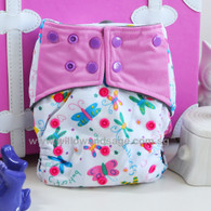 Willow & Sage Bamboo Charcoal Cloth Diaper -  Sweet Butterfly