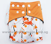 Bamboo Charcoal Cloth Diaper - Mr Fox