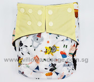 Bamboo Charcoal Cloth Diaper - Let Them Eat Cake