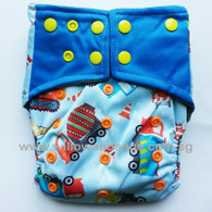 Bamboo Charcoal Cloth Diaper - Construction Frenzy