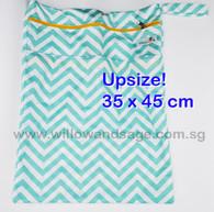Wet Bag 35 x 45cm  - Chevron Blue