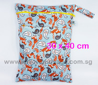 Wet Bag 30x 40cm  - Foxy Loxy