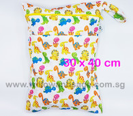 Wet Bag 30x 40cm  - Jurrasic Jumble
