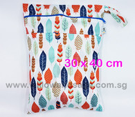 Wet Bag 30x 40cm  - Tribal Feathers