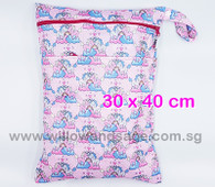 Wet Bag 30x 40cm  - Unicorn Rainbow