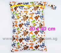 Wet Bag 30x 40cm  - Woodsy Critters