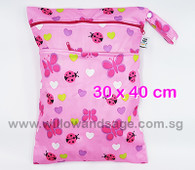 Wet Bag 30x 40cm  - Pink Petals