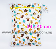 Wet Bag 30x 40cm  - Cute Cubs
