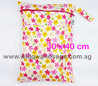 Wet Bag 30x 40cm  - Cheery Stars
