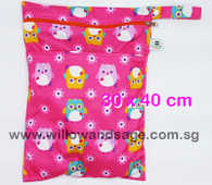 Wet Bag 30x 40cm  - Charming Owl