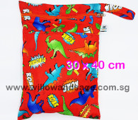 Wet Bag 30x 40cm  - Dino