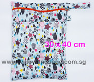 Wet Bag 30x 40cm  - Drip Drops
