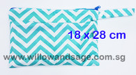 Wet Bag 18 x 28cm - Chevron Blue