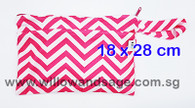 Wet Bag 18 x 28cm - Chevron Pink
