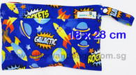Wet Bag 18 x 28cm - Galactic Rockets