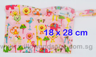 Wet Bag 18 x 28cm - Animal Wonderland Pink