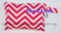 Wet Bag 14 x 21cm - Chevron Pink