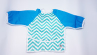 Full Body Bib - Chevron Blue