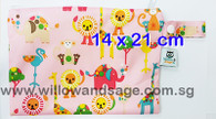 Wet Bag 14 x 21cm - Animal Wonderland Pink