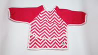 Full Body Bib - Chevron Pink