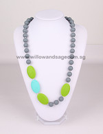 Teething Necklace FK004 Grey