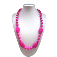 Teething Necklace FK006 Hot Pink