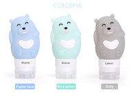 Travel Silicone Bottles Bear Blue
