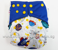 Bamboo Charcoal Cloth Diaper - Astronauts