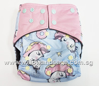 Bamboo Charcoal Cloth Diaper - Unicorn Doughnut
