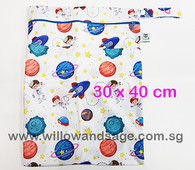Wet Bag 30x 40cm  - Astronauts