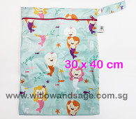Wet Bag 30x 40cm  - Playful Mermaid