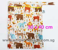 Wet Bag 30x 40cm  - Forest Friends