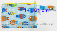 Wet Bag 14 x 21cm - Fishy Business