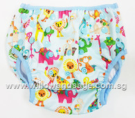 Swim Diaper - Animal Wonderland Blue
