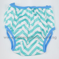 Swim Diaper - Chevron Blue