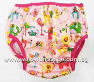 Swim Diaper -Animal Wonderland Pink