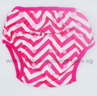 Swim Diaper - Chevron Pink
