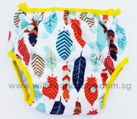 Swim Diaper - Tribal Feathers