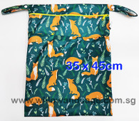 Wet Bag 35 x 45cm  - Fox in Meadow