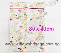 Wet Bag 30x 40cm  - Relax Flamingo