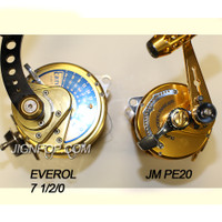 Everol 7 1/2/0 vs. Jigging Master PE20  It looks PE20 has much more line capacity than Penn 50SW. PE20 even have more line capacity than Avet TR-X 50W.