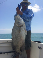 "Pending IGFA all tackle world record (lenght) Current WR: 27.16"" Fish in pic: 34"" Custom Built Rod by RayS Custom Works"
