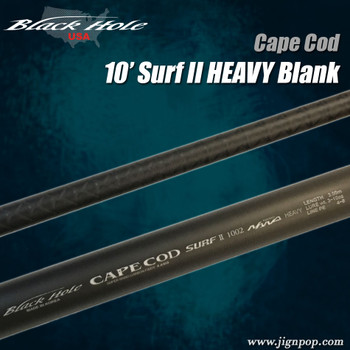 Black Hole 10' HEAVY Cape Cod Surf II 1002 Blank
