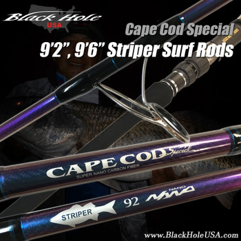 "Black Hole 9'2"", 9'6"" Striper Surf Rods"