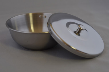Stainless Steel shaving bowl with lid / heavy gage