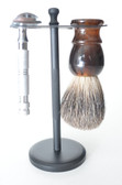 Black brush & razor stand stand only/brush and razor are not included