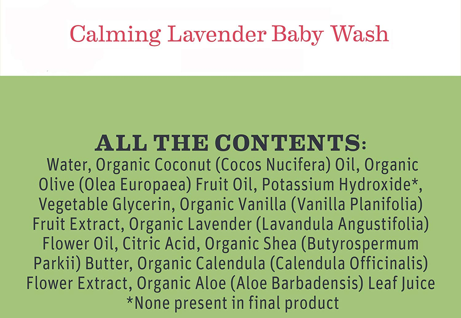 Earth Mama Baby Wash - Lavender 5.3 Oz