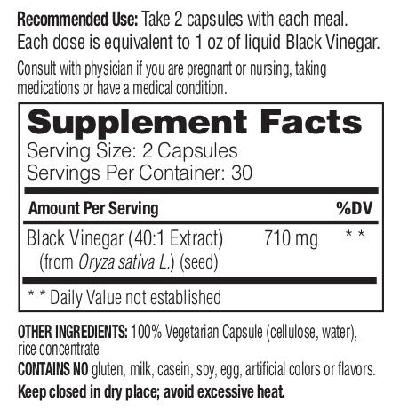 Enzymedica Black Vinegar - 60 Caps