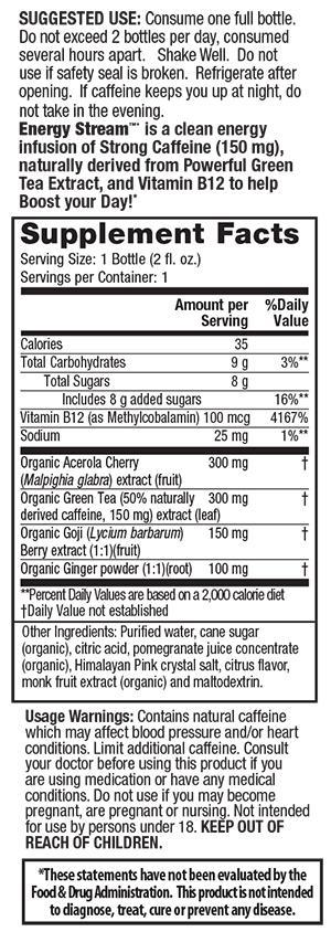 Irwin Naturals Energy Stream Pomegranate Citrus 2 oz