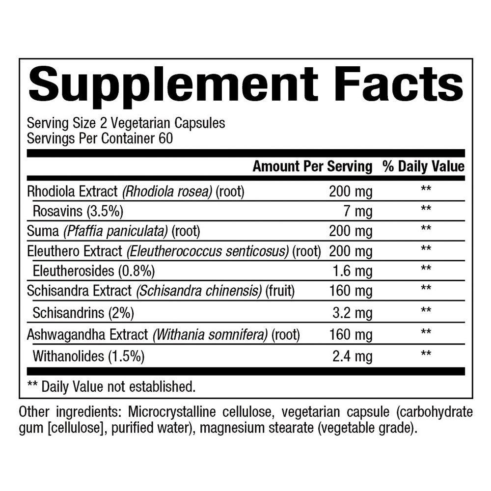 Natural Factors AdrenaSense 120 Vcaps
